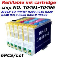 $12.08 (Buy here: https://alitems.com/g/1e8d114494ebda23ff8b16525dc3e8/?i=5&ulp=https%3A%2F%2Fwww.aliexpress.com%2Fitem%2FT0491-T0496-refillable-ink-cartridge-apply-to-printer-R200-R210-R230-R300-R310-R320-R350-RX510%2F32328093908.html ) T0491-T0496 refill ink cartridge +arc chip  apply to printer R200 R210 R230 R300 R310 R320 R350 RX510 RX630 RX650 whit ARC chip for just $12.08