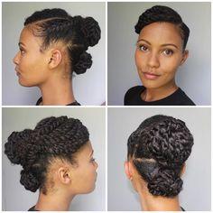 Natural hair tips, natural hair updo, natural hair styles, curly ha Natural Hair Twists, Natural Hair Updo, Natural Hair Styles, Teen Hairstyles, Twist Hairstyles, Kinky Hairstyles, Dreadlock Hairstyles, Trending Hairstyles, Black Hairstyles