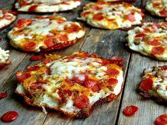 Mini Pepperoni Pizza Pancakes