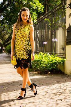 Look do dia com vestido Versace para Riachuelo