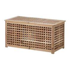 HOL bord med oppbevaringsplass, akasie Lengde: 98 cm Bredde: 50 cm Høyde: 50 cm