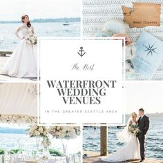 If you live in the Seattle area, you're probably wanting to show off the best of what the PNW has to offer. As a PNW native, this means getting married near the water with epic views from the ceremony & reception sites. Seattle Wedding Venues, Destination Wedding Locations, Waterfront Wedding, Best Wedding Venues, Outdoor Wedding Venues, Hotel Wedding, Wedding Receptions, Event Venues, Wedding Tips