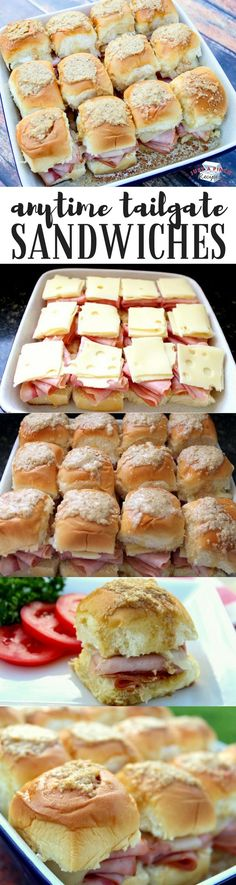 Bite-sized ham and cheese sandwiches on King's Hawaiian rolls = awesome finger food recipe!