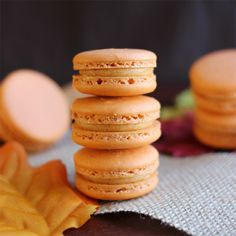 Sweet Potato Pie Macarons - Confessions of a Confectionista Thanksgiving is just a week away which means at this moment, intense pie planning is going down. So I hope you won't mind if I interfe. Pie Recipes, Baking Recipes, Cookie Recipes, Dessert Recipes, Pavlova, Macaron Cookies, Shortbread Cookies, French Macaroons, Macaroon Recipes