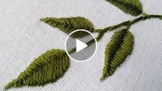 Hand Embroidery Design: Tutorials for Hand Embroidered Leaves & Flowers, This is great way to stitch leaves using another kind of woven method. Whether the samples below demonstrate how to embroider a leaf or how to embroider a flower, with a few tweaks,