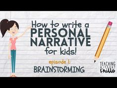 Are you ready to write a personal narrative? First you have to brainstorm some ideas! This video shows you how to think of topics for your narrative writing. Teaching Narrative Writing, Narrative Story, Personal Narrative Writing, 5th Grade Writing, Personal Narratives, Writing Workshop, Pre Writing, Writing Process, Writing Genres