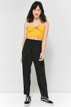 51877a468 Light Before Dark Black Drawstring Plisse Trousers