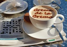 Your message on the froth of a cup of cappuccino!