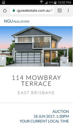 Brisbane, Terrace, Real Estate, Exterior, Mansions, House Styles, Home Decor, Balcony, Decoration Home