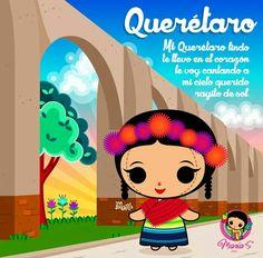 Querétaro Mexican Folk Art, Mexican Style, Mexico Party, Watercolour Tutorials, Kawaii, Cute Illustration, Betty Boop, Cute Quotes, Cartoon Art