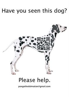 guerilla advertising using QR codes Guerrilla Advertising, Guerilla Marketing, Marketing And Advertising, Marketing Ideas, Ads Creative, Creative Advertising, Dalmatian Party, Code Art, Foster Dog