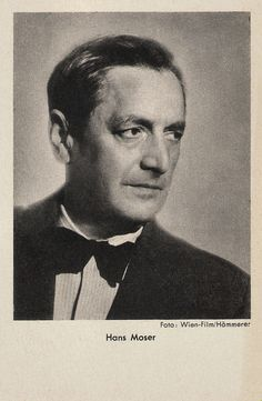 https://flic.kr/p/RU3dBt | Hans Moser | German postcard by Das Programm von Heute / Ross Verlag, Berlin. Photo: Wien-Film / Hämmerer.  Austrian actor Hans Moser (1880-1964) appeared in over 150 films. During his long career, from the 1920s up to his death, he became very popular as the mumbling factotum  in comedy films. Moser was particularly associated with the genre of the Wiener Film.  For more postcards, a bio and clips check out our blog European Film Star Postcards Already over 4…