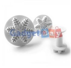 3pcs Snowflake Cake Decorating Sugarcraft Cutter Plunger Mold Mould