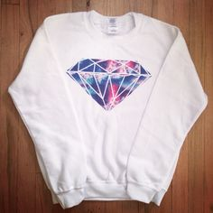 Galaxy Diamond crewneck sweater! - www.hipstertops.com