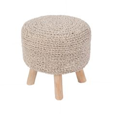 Westport Pouf in Pumice Stone design by Jaipur (175 NZD) ❤ liked on Polyvore featuring home, furniture, ottomans, poufs, recycled furniture and colored furniture