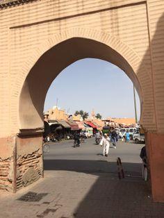 Through the medina wall