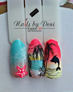 58 Hottest Beach Nail Ideas Designs for Summer Nail art is an innovative way to pa Cute Pedicure Designs, Beach Nail Designs, Pedicure Ideas, Nail Designs For Summer, Cute Pedicures, Cute Nails, Beach Nail Art, Palm Tree Nails, Sea Nails