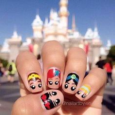 These Disney Nail Art Ideas Will Inspire Your Next Magical Manicure Loading. These Disney Nail Art Ideas Will Inspire Your Next Magical Manicure Nail Art Designs, Disney Nail Designs, Nails Design, Nail Designs For Kids, Diy Nails, Cute Nails, Manicure Ideas, Kids Manicure, Nail Art Disney