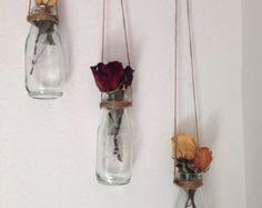 Milk Bottle Shabby Chic Home Décor Vases Set door LaFleurSucculente
