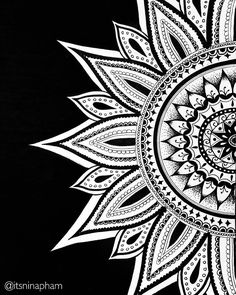 """We love this mandala by @itsninapham. Check out and follow this amazing artist!  submit your mandala to be featured on this page by using the hashtag: #…"""