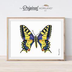 Yellow-Purple Butterfly Print - Printable Art