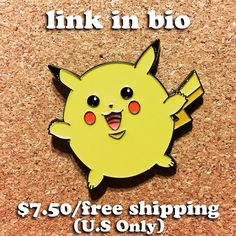 #Repost @sick_stickerz  How cute is this pin!  Puffy Pikachu is available now and will make a great Xmas present!  Go now to the link in my bio now!  http://ift.tt/2hIAFt4  Material : Iron Size : 38.1mm Thickness: 1.5mm Plating : Black nickel Clutch: 2 Rubber Clutch (one black one yellow) $7.50free shipping (U.S only) #pin #pins #enamelpin #enamelpins #pincollection #pinaddict #streetart #popart #lapelpin #lapelpins #pingod #pinlife #pinsofig #pinstagram #pingame #pincollection #pokemon…