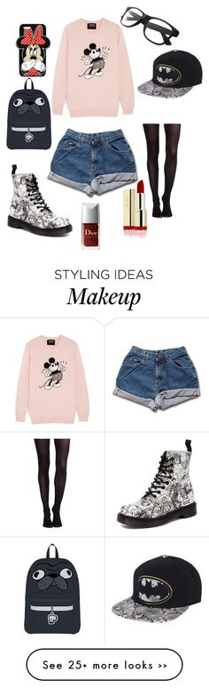 """""""Wacky"""" by ekate123 on Polyvore featuring Markus Lupfer, SPANX, Dr. Martens and Forever 21"""