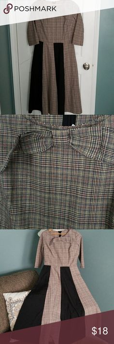Fit and Flare Dress NWOT..plaid married with black panels.  Fit and flare.  Looks a lot nicer on then appears on hanger. Waist 28.Length 46.  Size says M..but is a small. Great for church or the 50's look. & Other Stories Dresses Midi