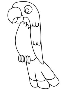 Parrot coloring page: print out on red construction paper and glue colored feathers on for pirate's parrot.  :)