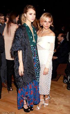 Suki Waterhouse - Stella McCartney Caroline dress.. with Sienna Miller - Balenciaga Spring 2015 dress..