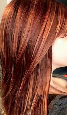 Pink-Red with Yellow Highlights - 20 Cool Styles with Bright Red Hair Color (Updated for - The Trending Hairstyle Red Ombre Hair, Hair Color Auburn, Auburn Hair, Red Hair Color, Magenta Hair Colors, Bright Red Hair, Red Hair With Highlights, Red Hair With Lowlights, Golden Highlights