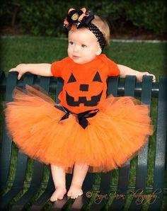 Pumpkin costume - orange tutu style