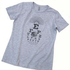 Vintage Victorian Eye Chart Ladies' Tshirt Optometry / by PointGraphicInk, $22.00