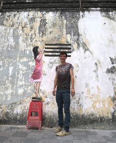 #StreetArt by Ernest Zacharevic in Ipoh, Malaysia ♥♥♥