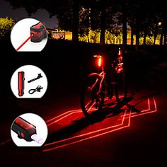 150LM High Attention Grabbing Bicycle Road Bike Tail Light Rear Warnning Lamp D
