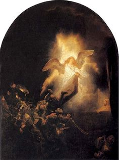 """REMBRANDT """"The Resurrection of Christ"""" c.1635-39, Oil on canvas by Plum leaves, via Flickr"""