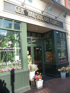 Central Square Florist. Right in front of the Central Square Red Line MBTA train. Locally family owned & operated for 4 generations, since 1929