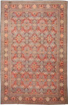 Antique Kashan Persian Rug 43338 Detail/Large View - By Nazmiyal