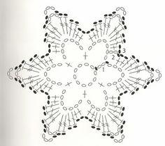 diagram More - Salvabrani Crochet Diagram, Crochet Motif, Irish Crochet, Crochet Doilies, Crochet Flowers, Crochet Patterns, Crochet Snowflake Pattern, Crochet Stars, Crochet Snowflakes