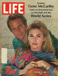 Paul Newman, Joanne Woodward. Life Magazine, October 18, 1968