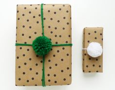 Gift-wrapping ideas by Cotton and Flax Pom-pom