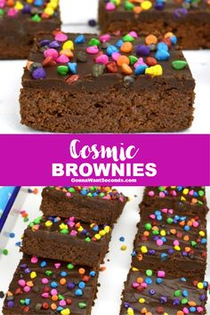 *NEW* These moist fudgy cosmic brownies are a sweet scrumptious copycat version of Little Debbie that's tasty enough to induce FORO – Fear Of Running Out! #CosmicBrownies #LittleDebbies #Brownies #Dessert #