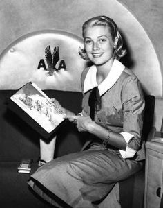 Grace Kelly on American Airlines