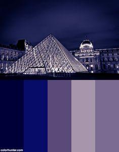 Musée Du Louvre Color Palette Nocturne, Wolf Colors, Louvre, Night Skies, Art Reference, Color Schemes, Palette, Sky, Paris