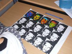 Andy Warhole lampion Met olie insmeren, rond nieten