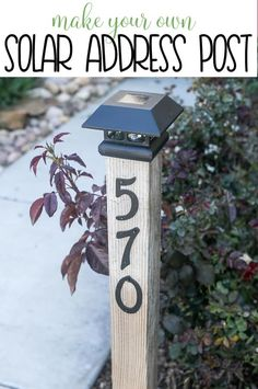 DIY Solar Address Post DIY Solar Address Post – easy wooden, rustic weekend project you can make yourself! Diy Solar, Weekend Projects, Home Projects, Up House, Mo S, Outdoor Living, Outdoor Decor, Easy Home Decor, Tropical Decor