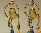 Boucle d'oreilles uniques 'Le Chant du Soir' : Boucles d'oreille par quilled-rose