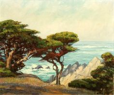 Eagle Crag, Point Lobos List Of Artists, World Of Color, Ways Of Seeing, Painting Inspiration, Impressionism, Wonders Of The World, Master Art, Strong, Sky