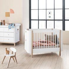 Neuheit: Oliver Furniture Wood Mini Plus Baby/Juniorbett L cm Cot Bed Mattress, Cot Bedding, Nursery Furniture Sets, Kids Furniture, White Cot Bed, Cama Junior, Low Loft Beds, Small Sofa, Childrens Beds