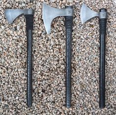 Skoll and Hati Custom Armory Forging Knives, Axe Handle, Viking Axe, Axe Head, Battle Axe, Fantasy Weapons, Knives And Swords, Knife Making, Cold Steel